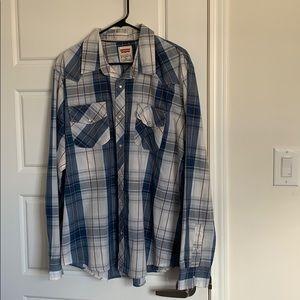 Levis Pearl Snap Button Down Shirt